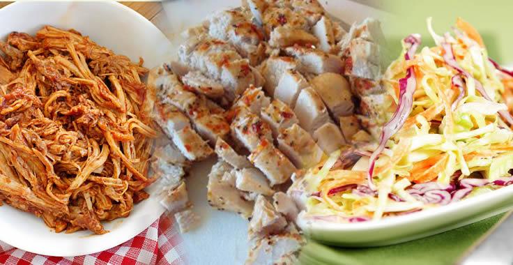BBQ Chicken and Pork Menu