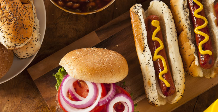 Hamburger and Hotdog Menu