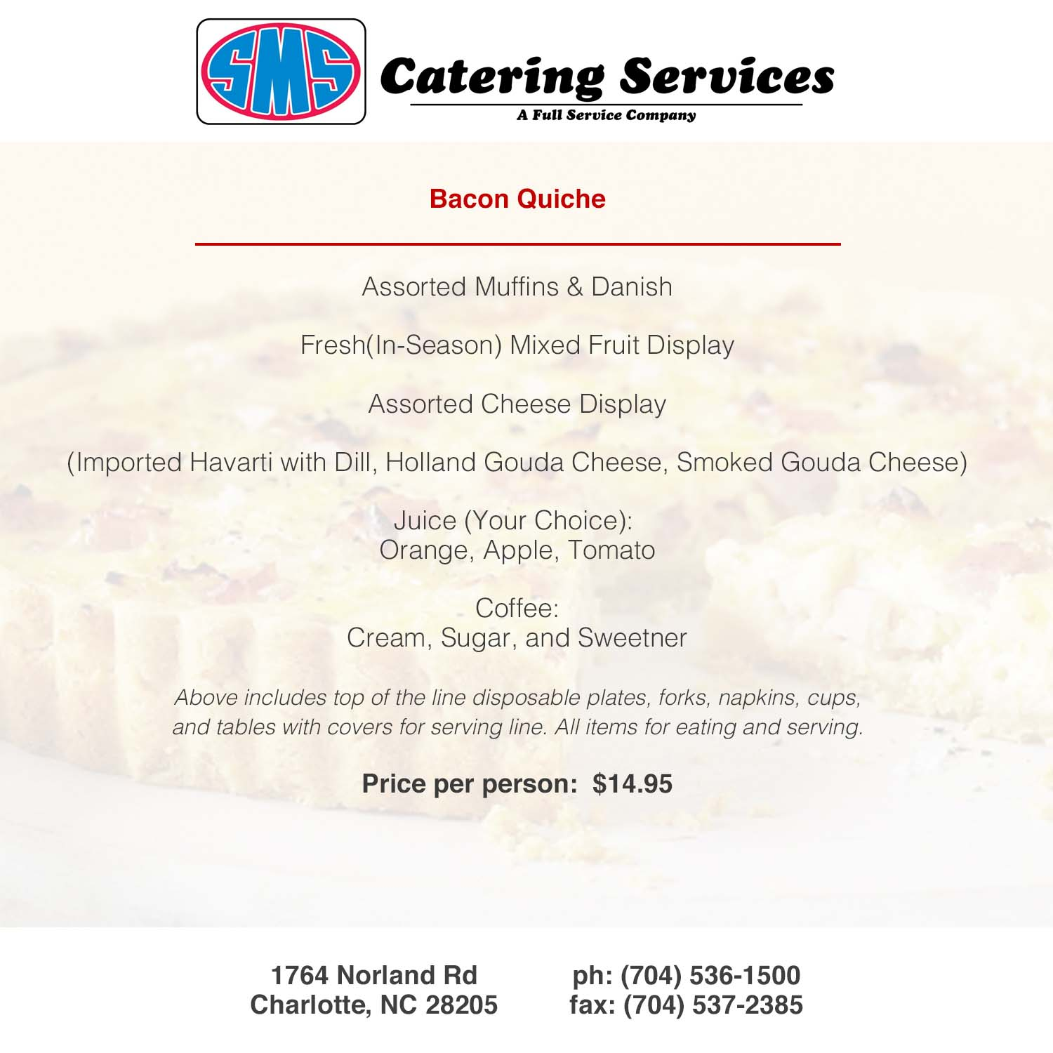 SMS Catering Charlotte